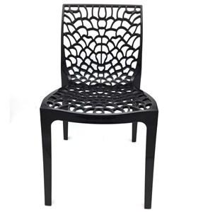 Imagen de Silla de plástico calada, blanco y negro