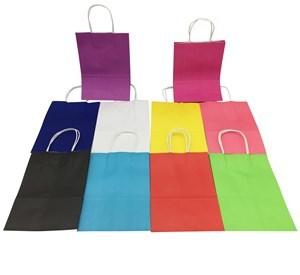 Imagen de Bolsa de regalo de papel con asa, chica, pack x12, varios colores
