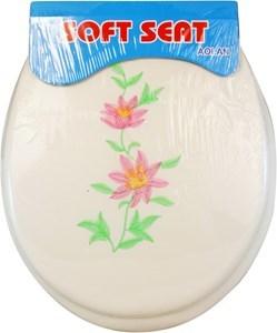 Imagen de Tapa para WC acolchonada bordada, varios colores y diseños