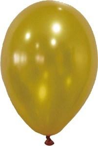 "Imagen de Globo 9"" FILIPPO dorado metalizado, bolsa x50"