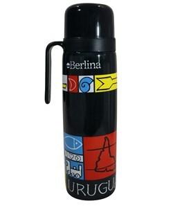 """Imagen de Termo 1L media asa, con diseño, pico cebador, base antideslizante, """"Berlina"""""""
