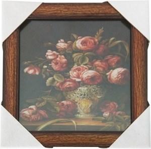 Imagen de Cuadro marco de madera, con vidrio, varios diseños