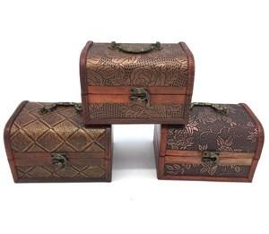 Imagen de Cofre de madera x3, distintos tamaños
