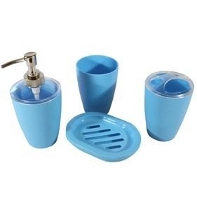 Imagen de Dispensador de jabón de plástico, con accesorios, en caja, varios colores
