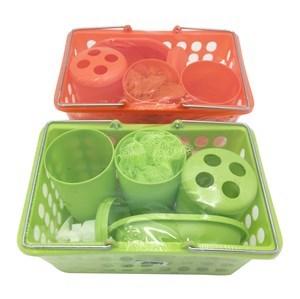 Imagen de Dispensador de jabón de plástico, con accesorios, en caja, 2 colores