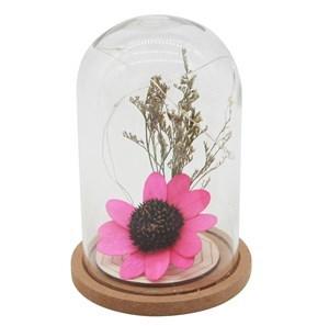 Imagen de Lámpara 4 luces led con adorno floral, ideal para centro de mesa, en caja