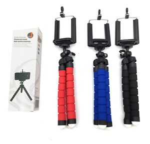 Imagen de Trípode para celular o cámara, ajustable, en caja, varios colores