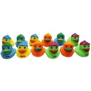 Imagen de Animales de goma con chifle, patitos x12, en red