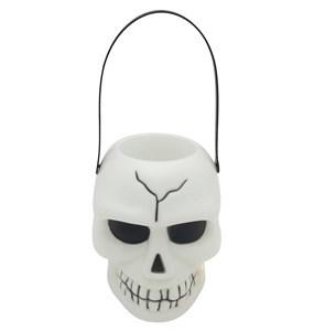 Imagen de Disfraz balde cráneo de plástico con asa, con luz y sonido