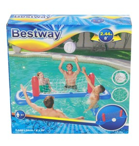 Imagen de Red de voleibol con base inflable con pelota, Bestway, en caja