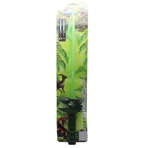 Imagen de Espada con luz, mango de dinosaurio, 3AAA, 2 colores, en cartón