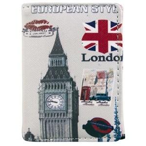 Imagen de Billetera para dama, de PVC, con botón, en bolsa, varios diseños