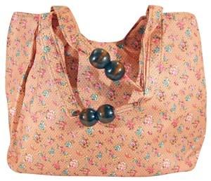 Imagen de Bolso de tela impermeable con cierre y bolsillo interior