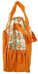 Imagen de Bolso maternal de tela, 1 bolsillo frontal grande, 2 bolsillos laterales, bolsillo interior y cambiador