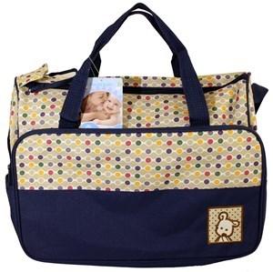 Imagen de Bolso maternal de tela, con 3 bolsillos exteriores y 1 interior, con cambiador.