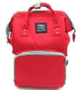 Imagen de Bolso mochila maternal con 2 asas, compartimentos y bolsillos interiores y exteriores, porta mamaderas con tela térmica para mantener la temperatura, varios colores