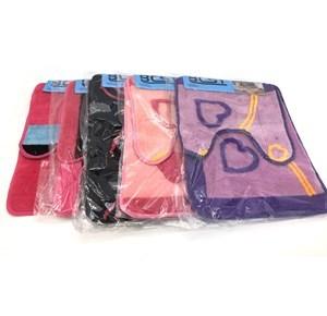 Imagen de Alfombra de baño x2, alfombra central y de inodoro o pileta, varios diseños