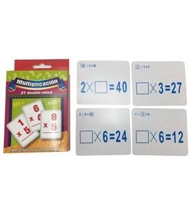 Imagen de Tarjetas de aprendizaje x27, doble cara, en caja, 4 operaciones aritméticas, PACK x12