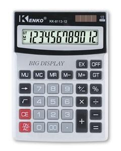 Imagen de Calculadora de mesa KENKO, 12 dígitos, dispaly grande, 1AAA, en caja