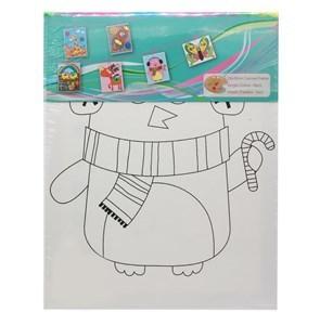 Imagen de Bastidor con lienzo, pincel y 6 pinturas, en bolsa
