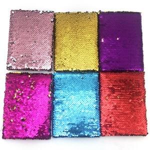Imagen de Libreta de 80 hojas, tapa forrada de lentejuelas, varios colores