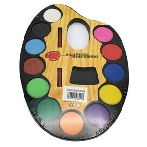 Imagen de Acuarelas x12 colores, con pincel