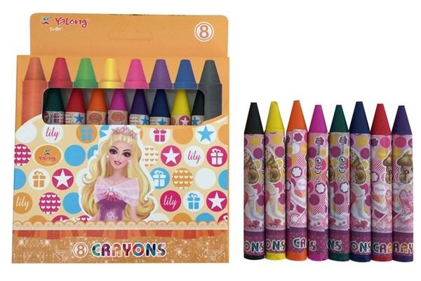Imagen de Crayolas gruesas 8 colores, en caja, YALONG