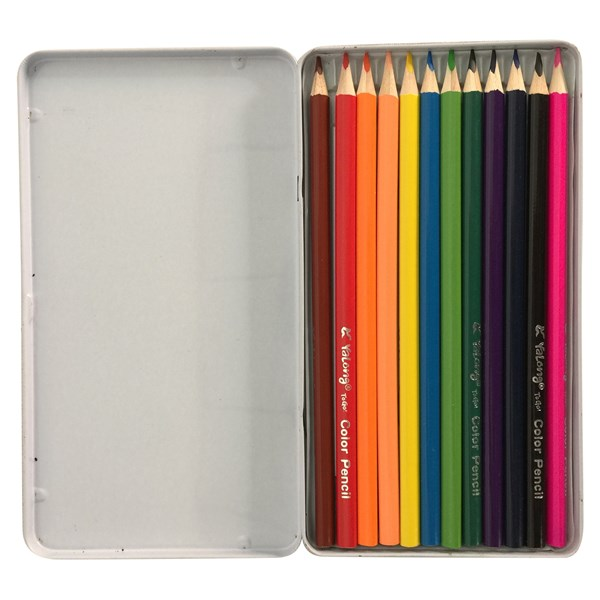 Imagen de Lápices 12 colores largos en lata, Yalong