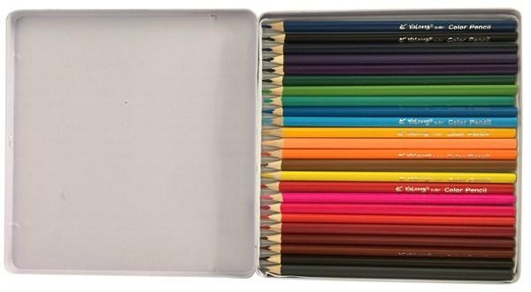 Imagen de Lápices 24 colores largos, en lata, Yalong