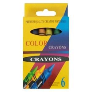 Imagen de Crayolas gruesas 6 colores, en caja