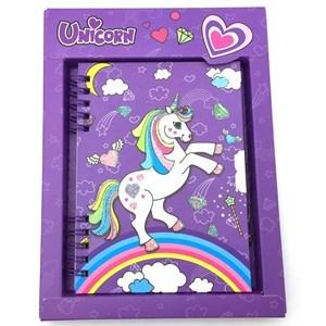 Imagen de Diario íntimo con llave, varios diseños de unicornio