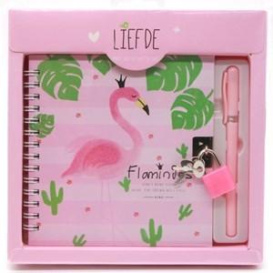 Imagen de Diario íntimo con candado y lapicera, en caja, varios diseños