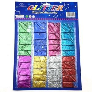 Imagen de Brillantina fina x40, en bolsita 2g, en cartón, varios colores