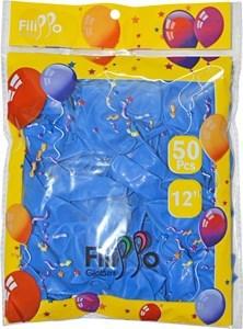 "Imagen de Globo 12"" FILIPPO azul, bolsa x50"