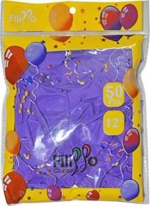 "Imagen de Globo 12"" FILIPPO violeta, bolsa x50"