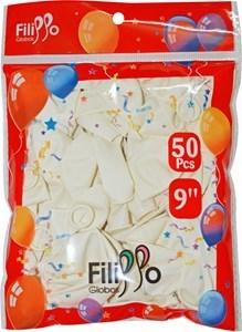 "Imagen de Globo 9"" FILIPPO blanco, bolsa x50"