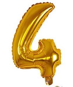 Imagen de Globo metalizado Nº4, en bolsa, plateado y dorado