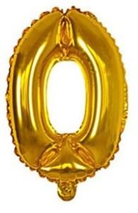 Imagen de Globo metalizado Nº0, en bolsa, plateado y dorado