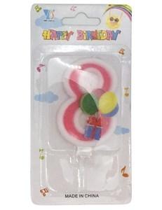 Imagen de Velita con globos, en blister