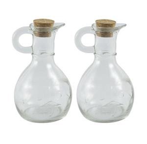 Imagen de Aceitera y vinagrera de vidrio x2, en caja