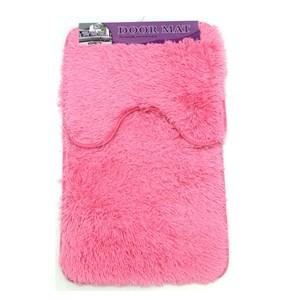 Imagen de Alfombra de baño x2, alfombra central y de inodoro o pileta, varios colores