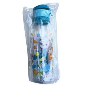 Imagen de Botella de plástico, con sorbito retráctil, con correa, 480ml, varios diseños infantiles