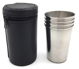 Imagen de Vaso de acero inoxidable x4, en estuche