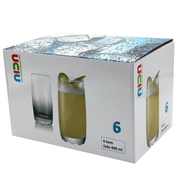Imagen de Vaso de vidrio, 400ml, caja x72 unidades, pack de 6