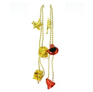 Imagen de Adorno cadena con accesorios navideños, en bolsa, 2 modelos