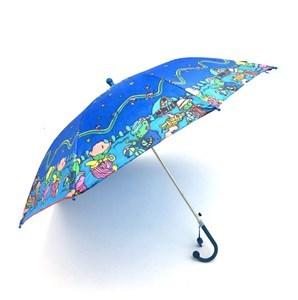 Imagen de Paraguas infantil automático con diseño, con chifle, 8 varillas