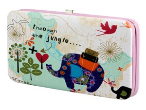 Imagen de Billetera para dama, de PVC, con repartición para celular, con asa, varios diseños