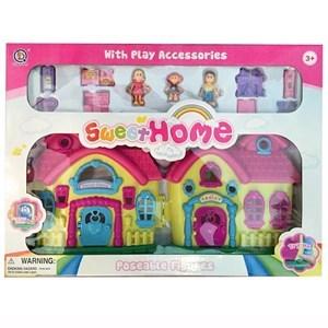Imagen de Casa para muñecas con luz y sonido, con accesorios,en caja