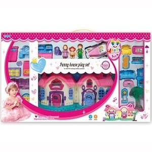 Imagen de Casa para muñecas, con muñecos, muebles, luz y sonido, 2AA, en caja