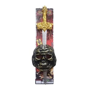 Imagen de Espada, con máscara, en cartón